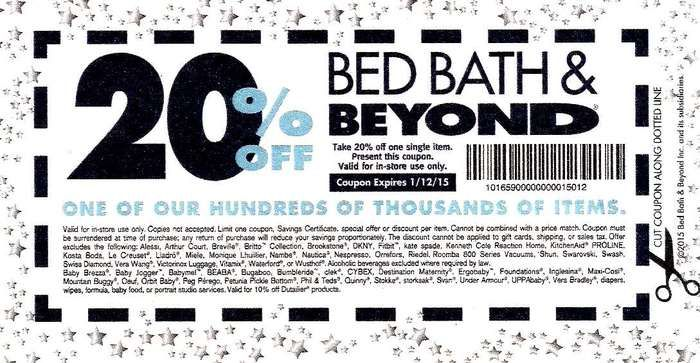 Bed Bath And Beyond Coupon 20 Off With Email Sign Up