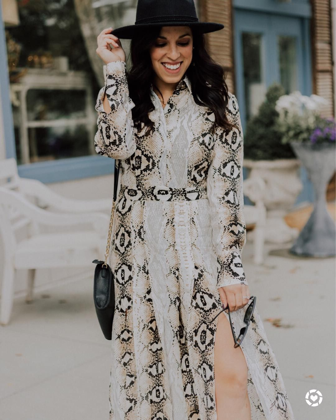 70b9b13915af How cute is this snake skin midi dress? And it comes in other  colors/patterns! #nordstrom #topshop #mididress