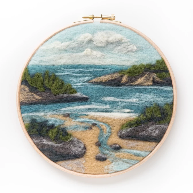 Coastal Waters Needle Felting Kit