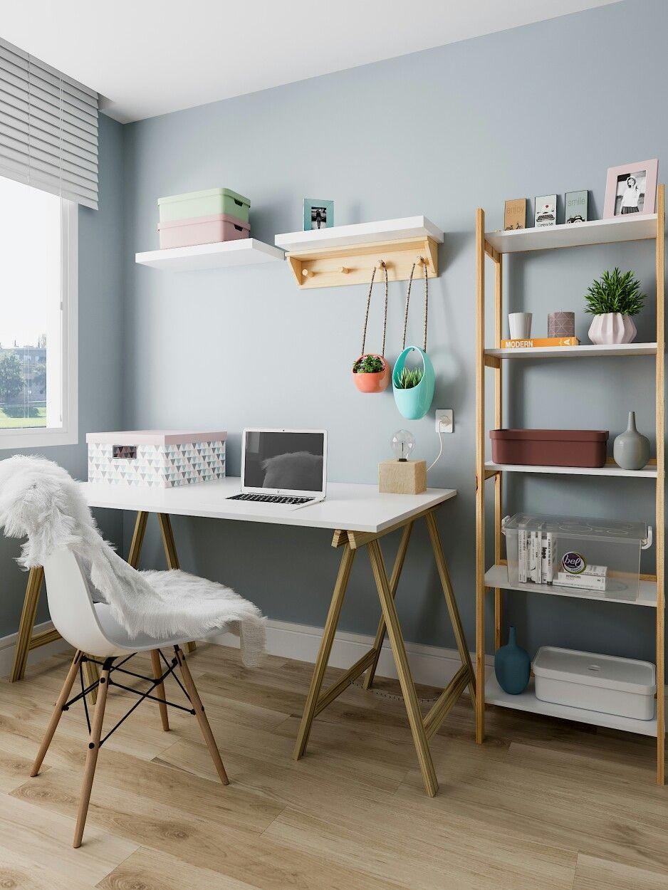 Home Office Escritorio Escritorio Leroy Merlin Brasil Home Office Decor Home Office Design Study Room Decor