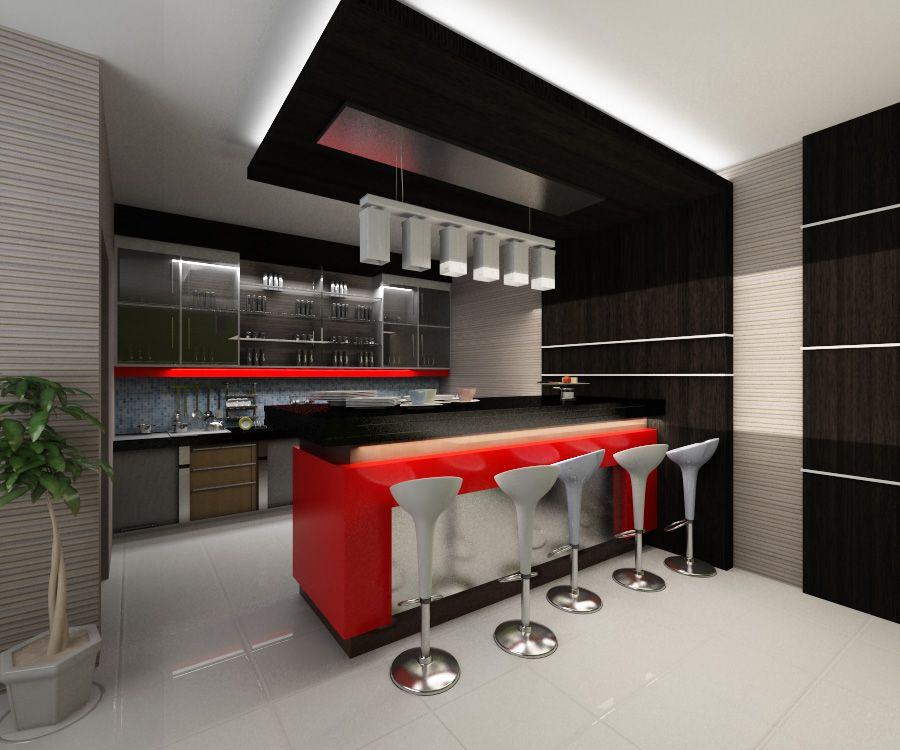 Modern Mini Kitchen Design: Mini Bar Kitchen Design Ideas