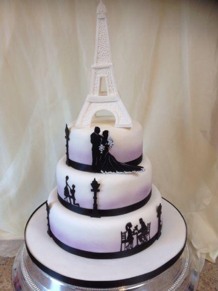 Paris Themed Engagement Cakes