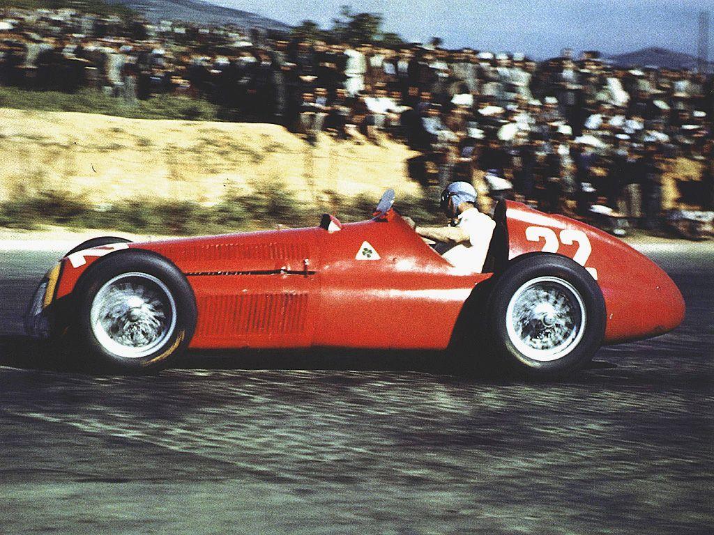Alfa Romeo 159 Juan Manuel Fangio Pedralbes 1951 Alfa Romeo 159 Classic Racing Cars Vintage Alfa Romeo