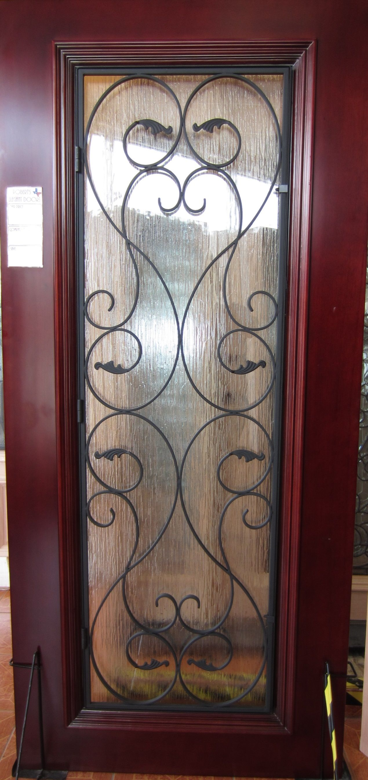 FULL LITE IRON GRILLE MAHOGANY WOOD DOOR - DOORS FOR SALE ...
