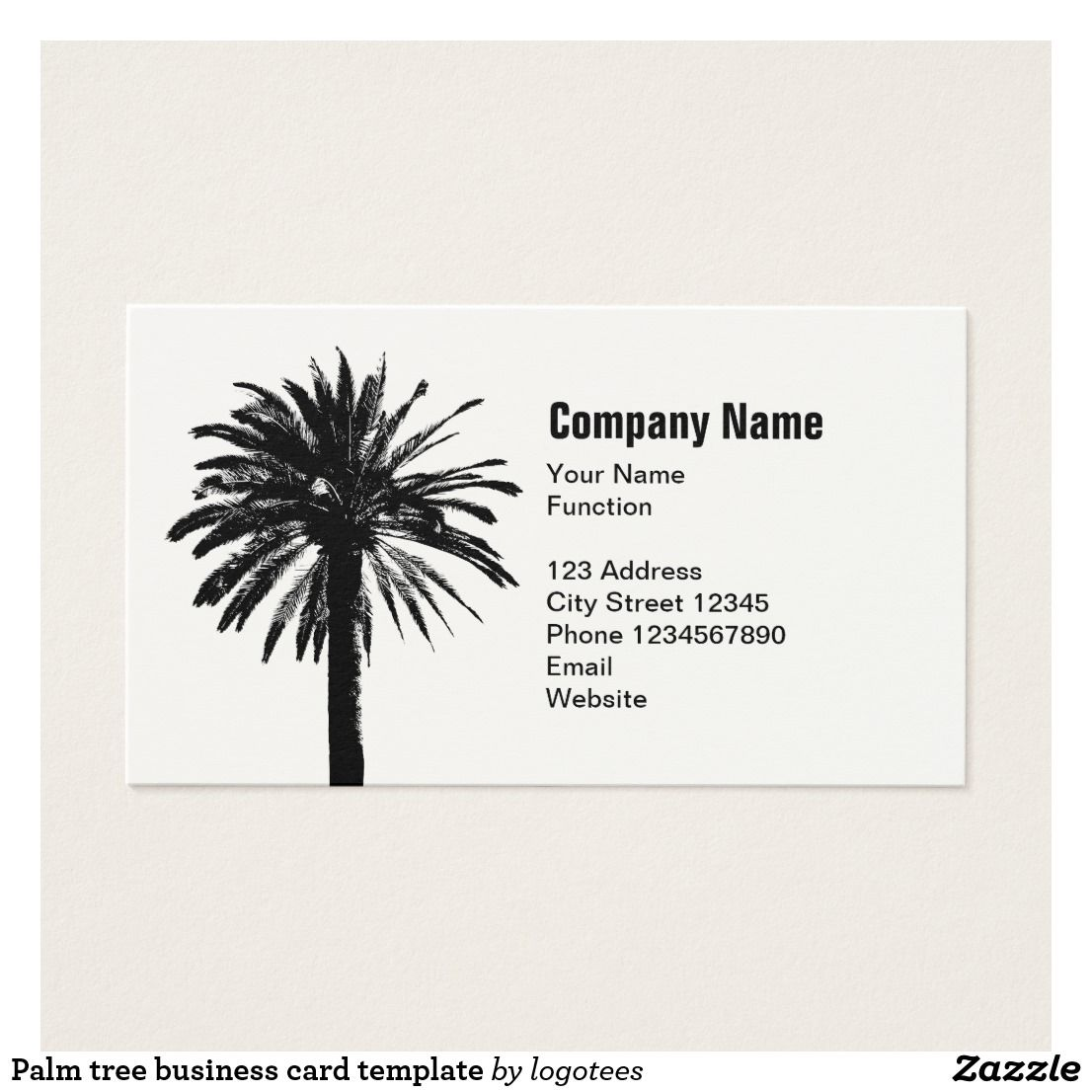 Palm tree business card template card templates template and business palm tree business card template colourmoves