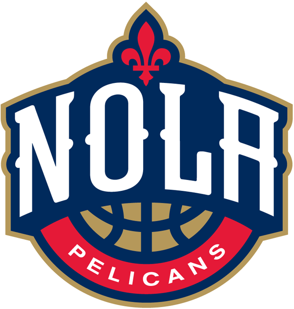 New Orleans Pelicans Alternate Logo 2014 Nola In White