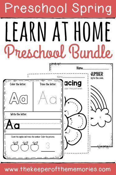 Spring Preschool Home Learning Bundle