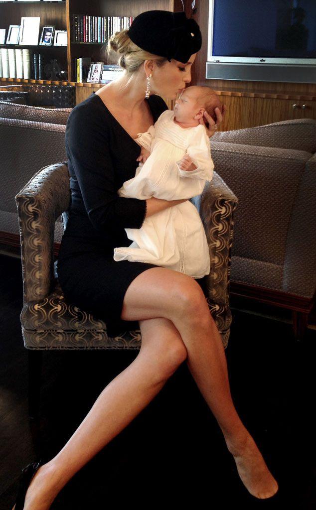 Ivanka Trump Kisses Newborn Son! | Lady, E online and Sons