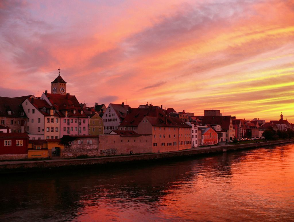 Altstadt Von Regensburg Donau Regensburg Altstadt Bayern Deutschland