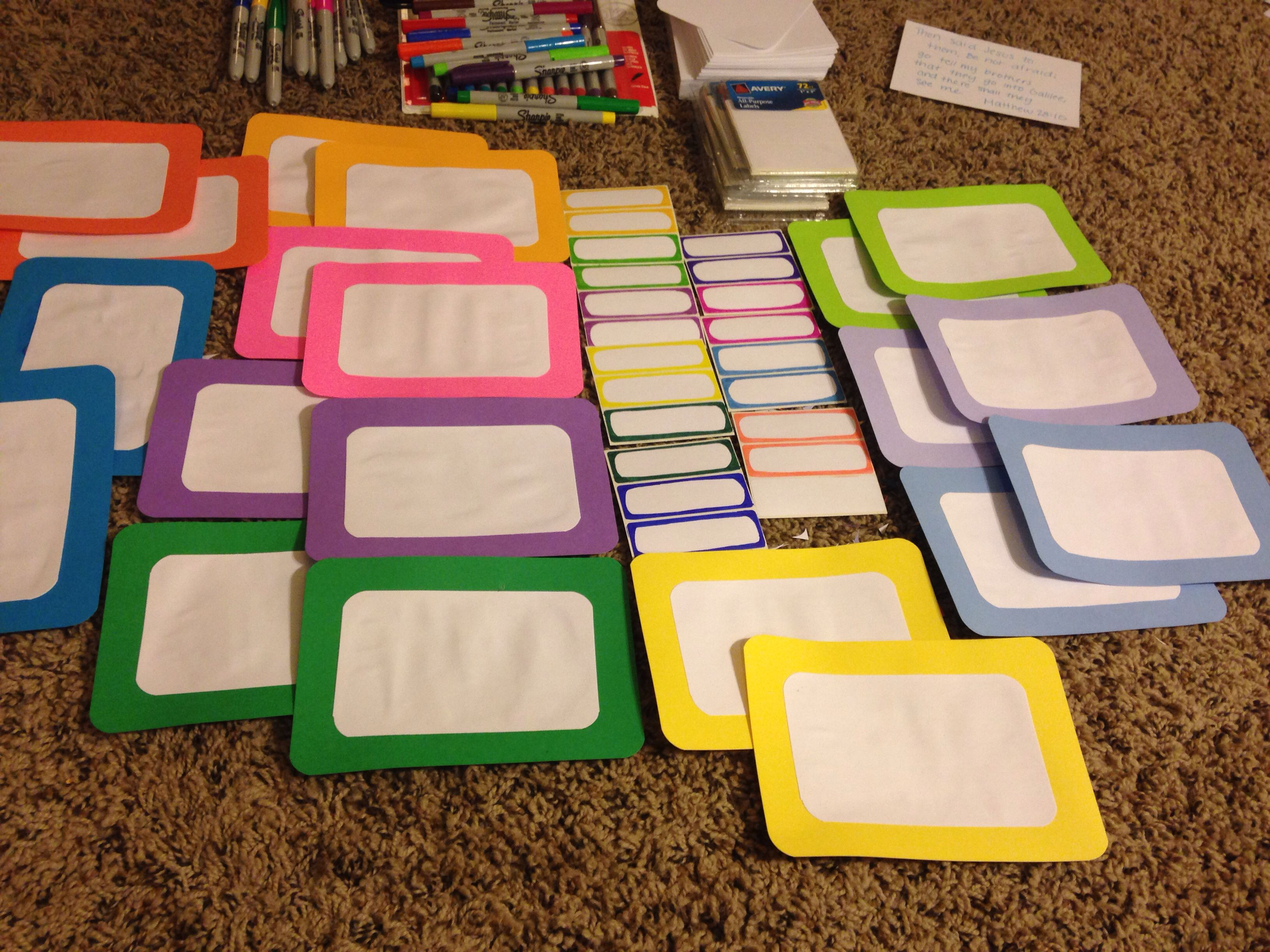 Baby cribs for daycare centers - Diy Color Coded Infant Classroom Name Labels Two Big Ones One For The Crib