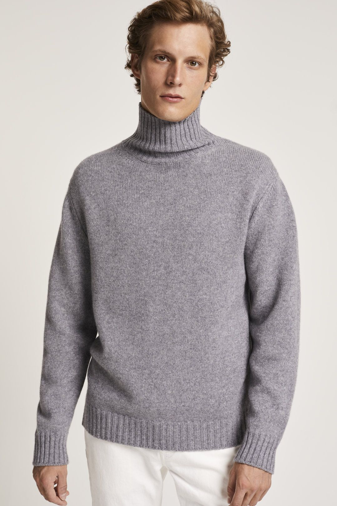 Cashmere Sweater With Stand Up Collar Knitwear Men Sweaters Mens Cashmere [ 1620 x 1080 Pixel ]