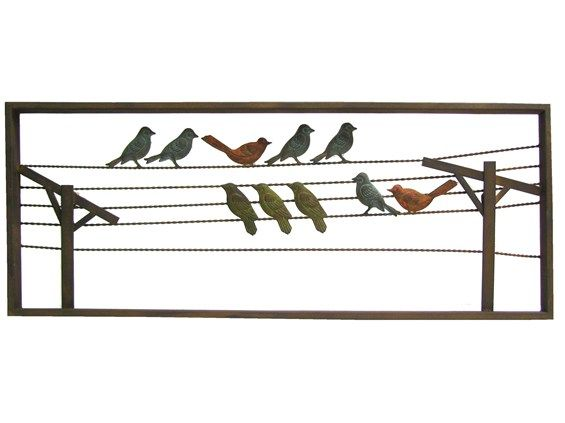 Multi Color Birds On Wire Metal Wall Decor Hobby Lobby Metal