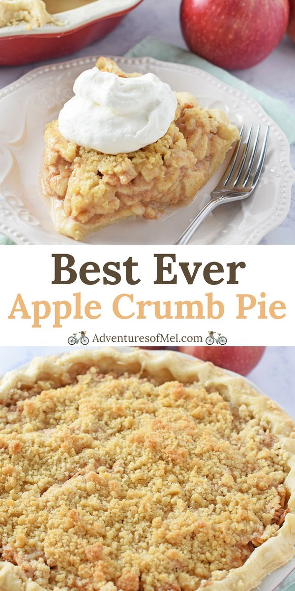 Dutch Apple Pie with Crumb Topping | Adventures of Mel #applepierecipe