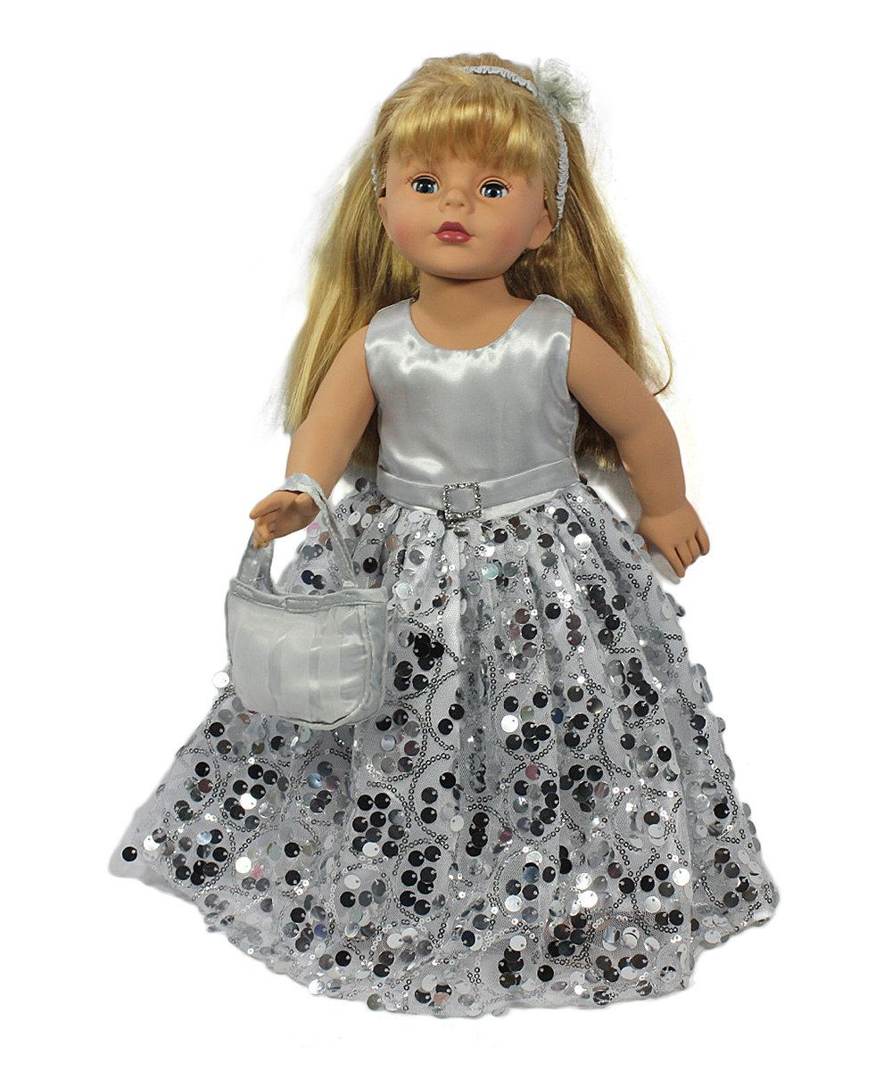 Look at this Silver Sequin Party Outfit for 18'' Doll on #zulily today!