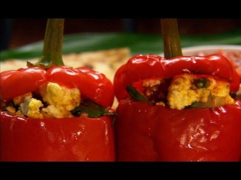 Paneer Stuffed Peppers Indian Food Made Easy With Anjum Anand Bbc Food Youtube Stuffed Peppers Indian Food Recipes Bbc Good Food Recipes
