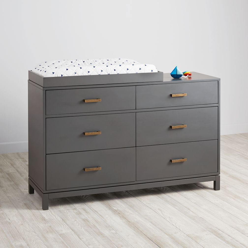 Cargo 6 Drawer Dresser Grey Crate And Barrel Changing Table