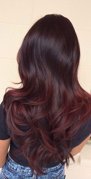 Another Example Of A Subtle Brown And Red Ombre Hair Styles Gorgeous Hair Color Long Hair Styles