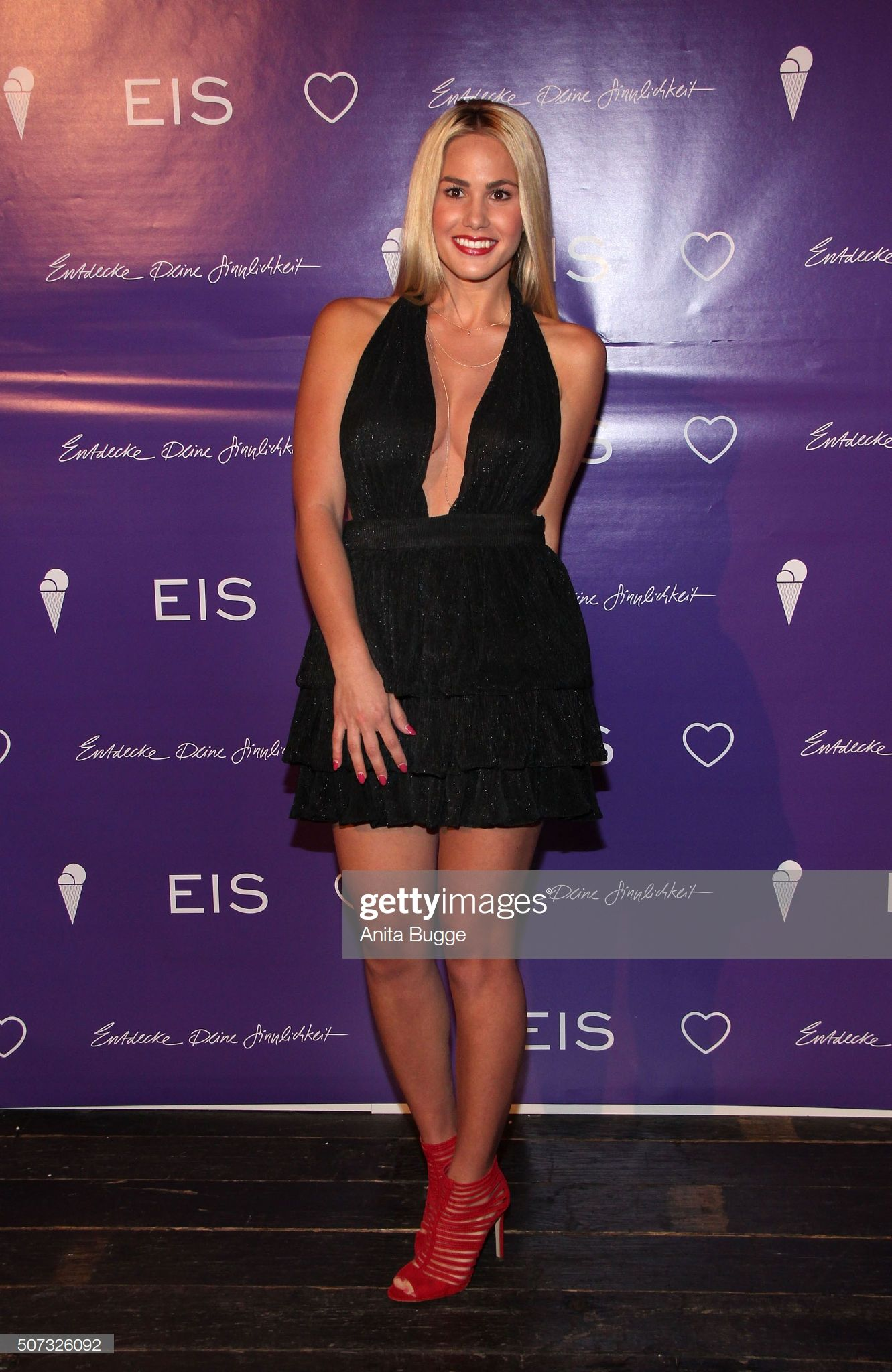 Angelina Heger attends the EIS! Party at Soho Hotel on