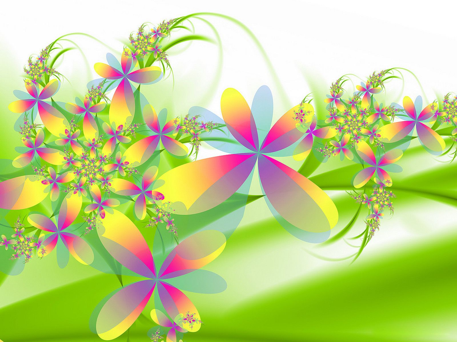 Flowers 3D Background Wallpaper | Free Desk Wallpapers | T-shirts ...