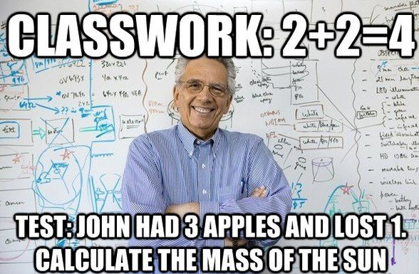 college in a nutshell. pshh, more like pre-ap math in a nutshell.