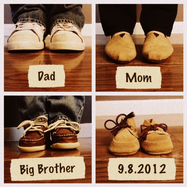 Pregnancy announcement / Baby announcement. - goes well with announcement from first baby