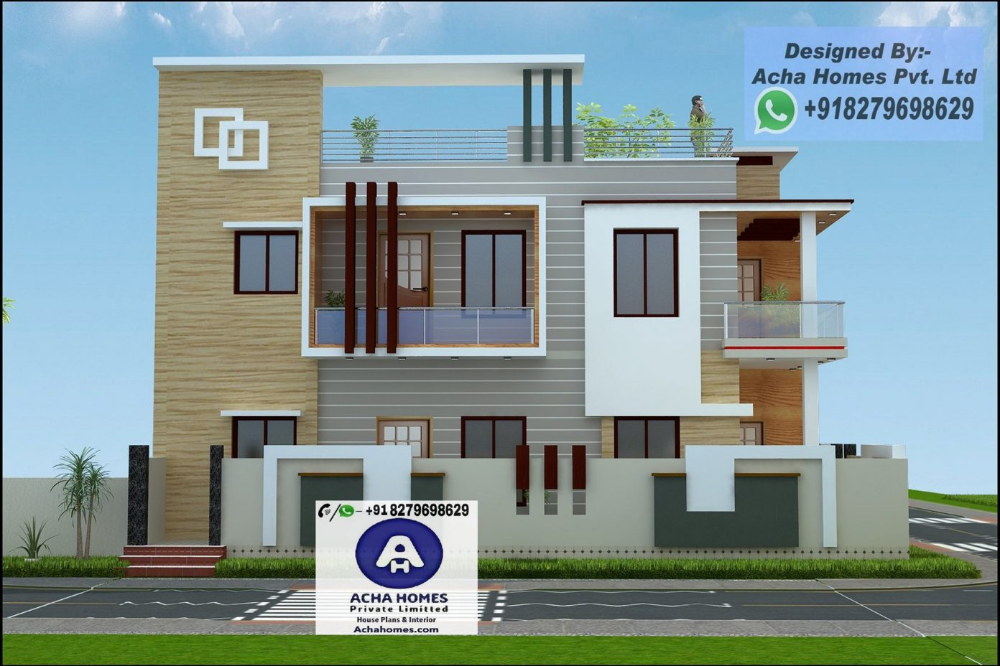Simple Home Design Ideas With 4 Bedrooms House Balcony Design Single Floor House Design Duplex House Design