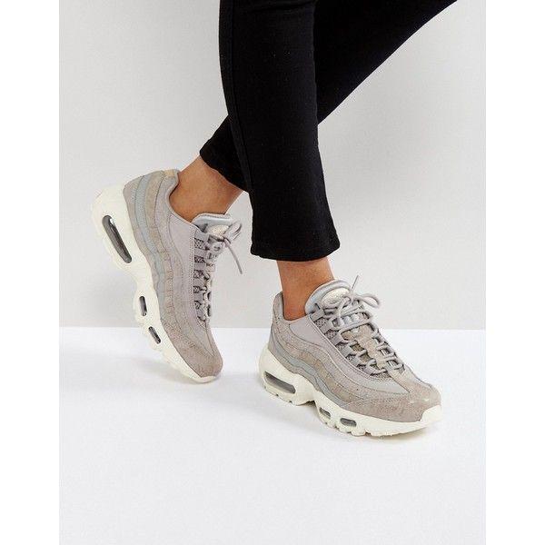 Nike Air Max 95 Premium Trainers In Light Grey (€135 ...