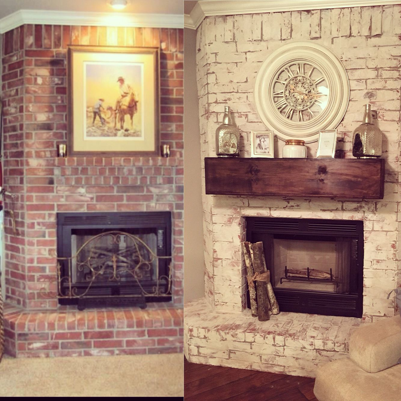 german smear mortar smear on our fireplace huge transformation