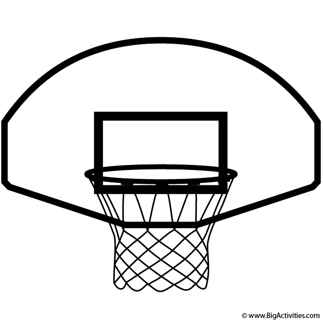Basketball Hoop Coloring Page Sports In 2021 Basketball Hoop Sports Themed Birthday Party Sports Theme Birthday