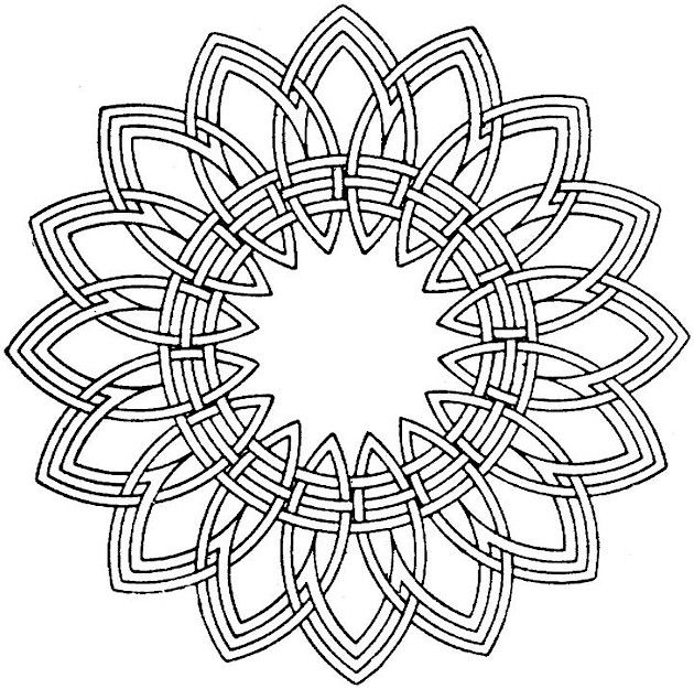 Free Coloring Pages Kaleidoscope Designs Free Printable Coloring ...