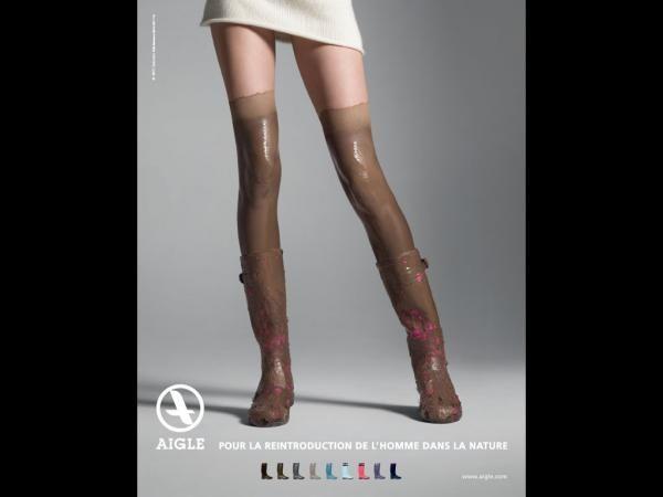 "Aigle: """"Boots"""" Print Ad"