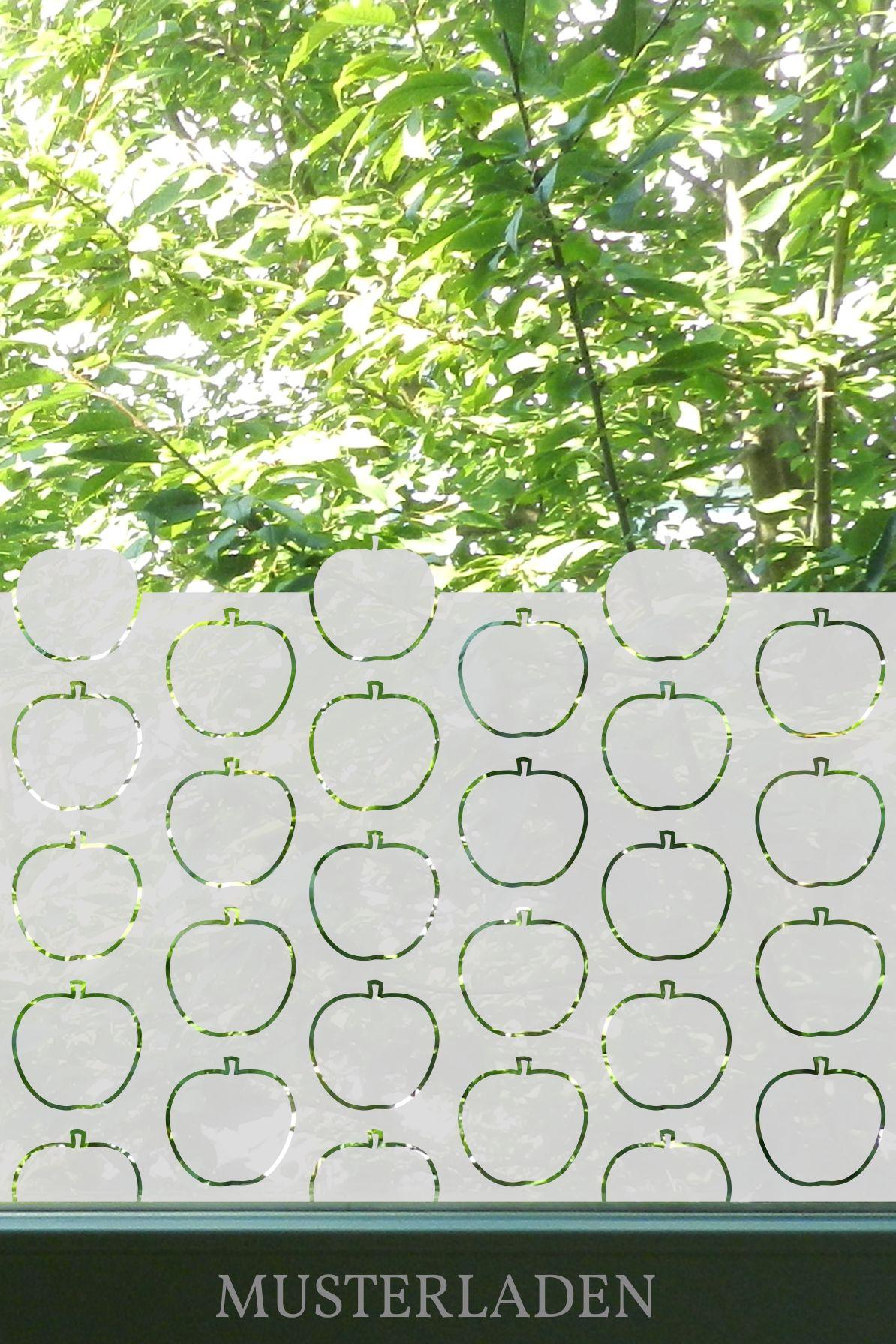 Fensterfolie Mit Apfel Motiv Sichtschutz Und Dekoration Fur