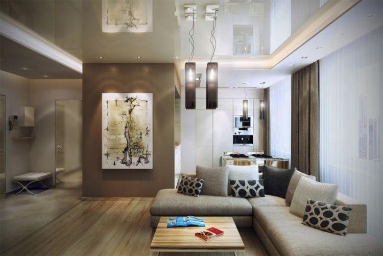 55 idées d\' ameublement salon en couleurs tendance | villa ...