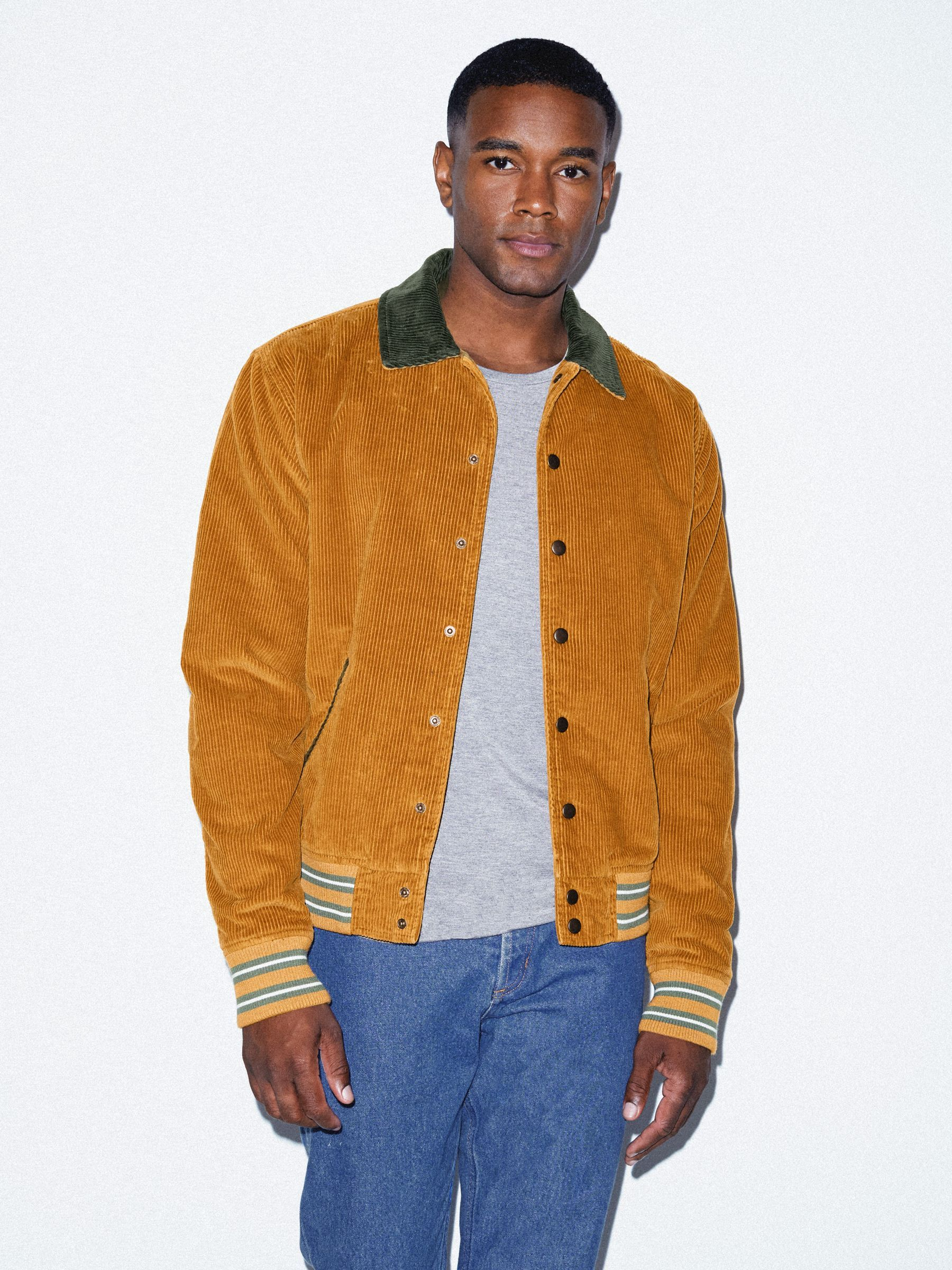 89e9317baf301 Corduroy Letterman Jacket | American Apparel | WL | Jackets ...