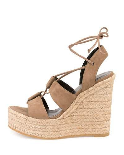 3f721f3b4570 X3CVF Saint Laurent Suede 95mm Espadrille Wedge Sandal