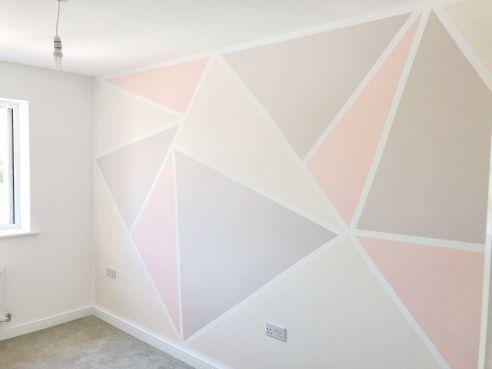 Photo of Parete geometrica fai-da-te | Lottie Lo fa