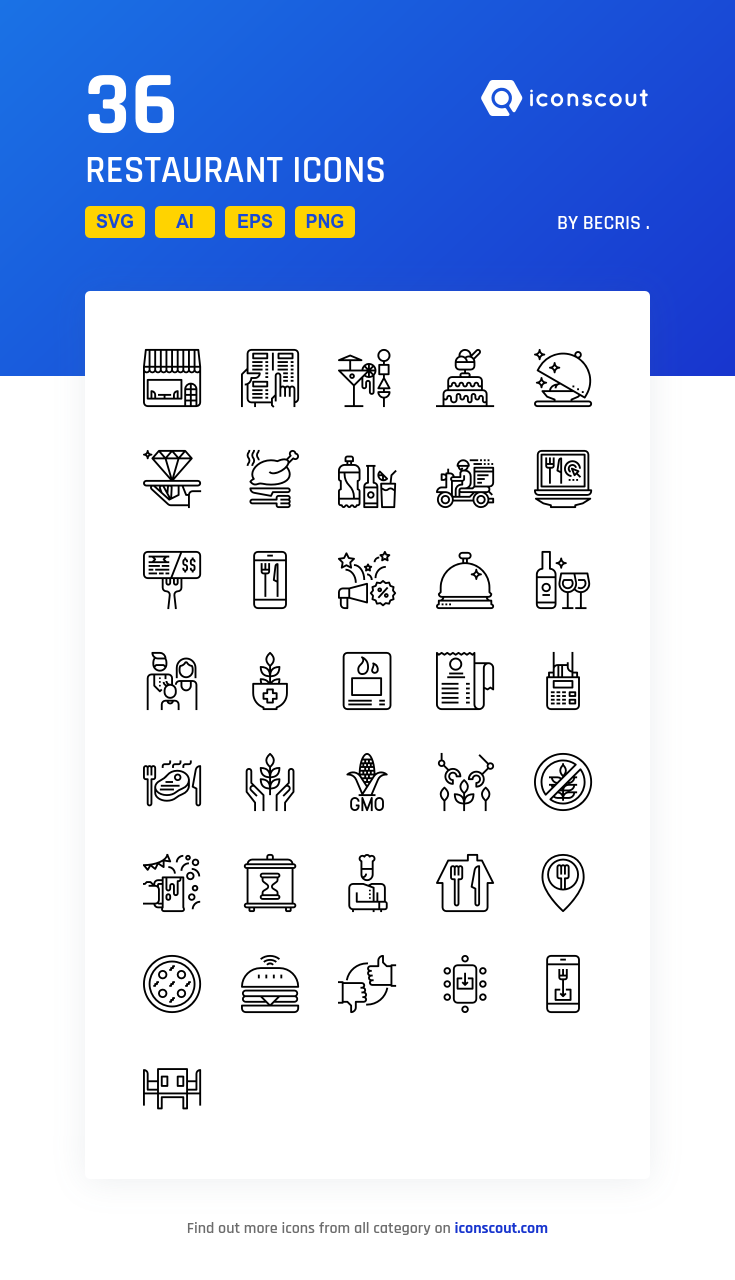 Download Restaurant Icon Pack Available In Svg Png Eps Ai Icon Fonts Restaurant Icon Icon Pack Building Icon