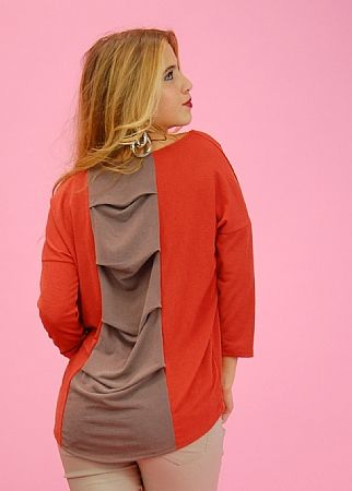 juniors Draped Back Top (Rust)