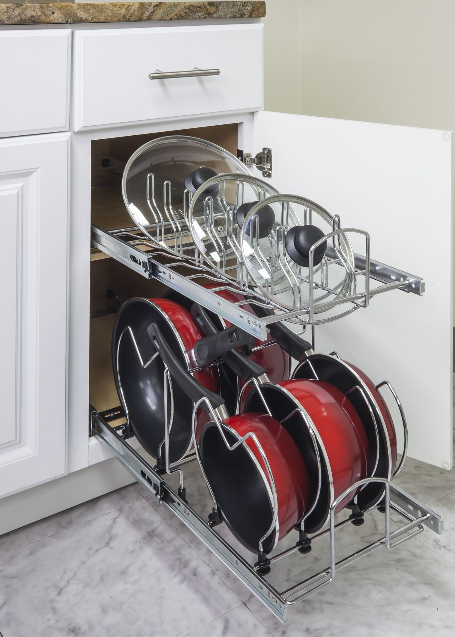 Organize your kitchen in 11 minutes or less easy install pot and lid hardware resources lid organizercabinet organizerskitchen workwithnaturefo