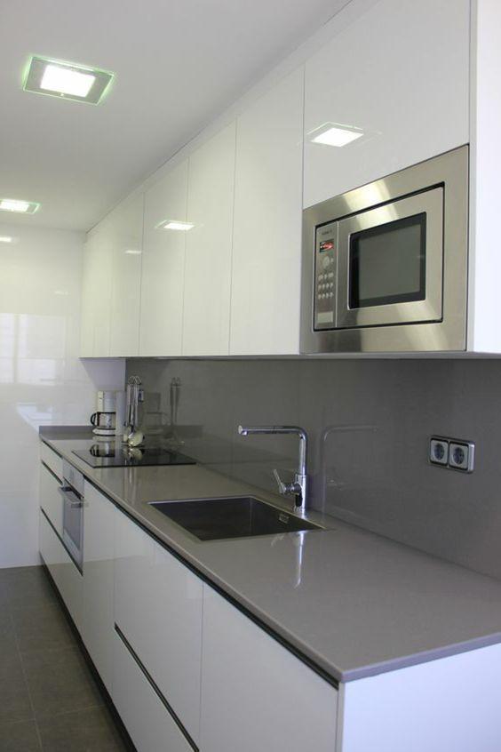 ▷ 1001+ ideas de decorar vuestra cocina blanca y gris mutfak - cocinas italianas