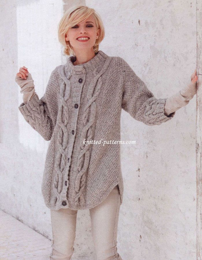 Free Knitting Patterns Alpaca Sweaters : Cable pattern cardigan FREE pattern. Alpaca-mix, cables ...