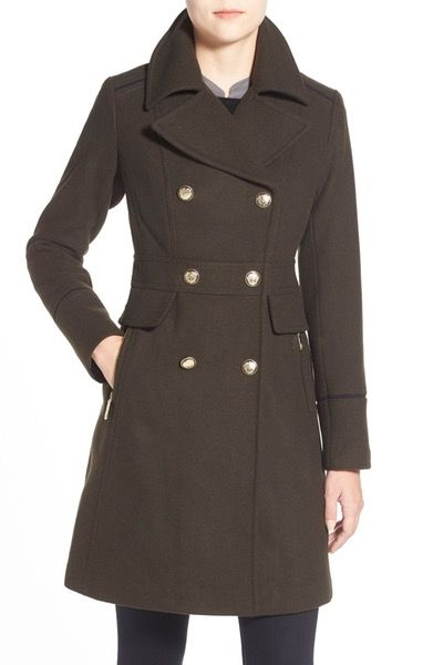 4eef65d26a50a Nordstrom - Vince Camuto Wool Blend Double Breasted Officer s Coat ...