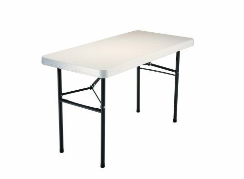 Lifetime 4 Foot Utility Tables With 48 By 24 Inch Molded Top 4