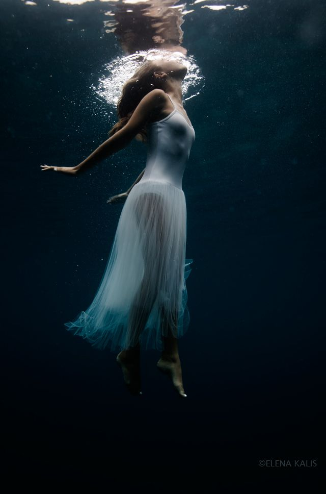 Aqua Photography mermaid under water calm, hauntingly