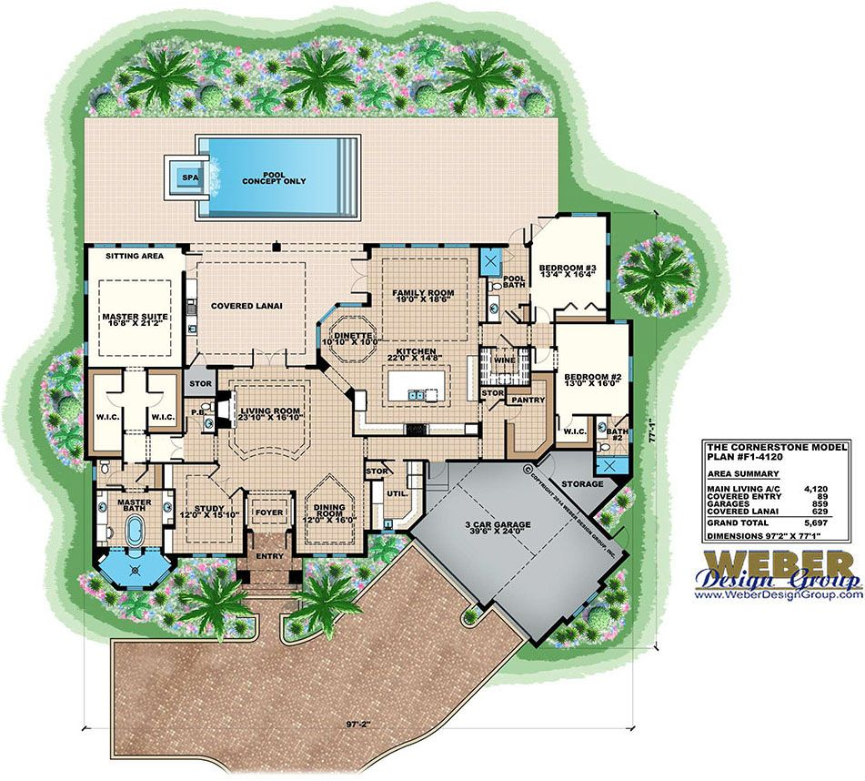 Contemporary House Plan 1 Story Coastal Contemporary Floor Plan Contemporary House Plans House Plans With Photos House Plans
