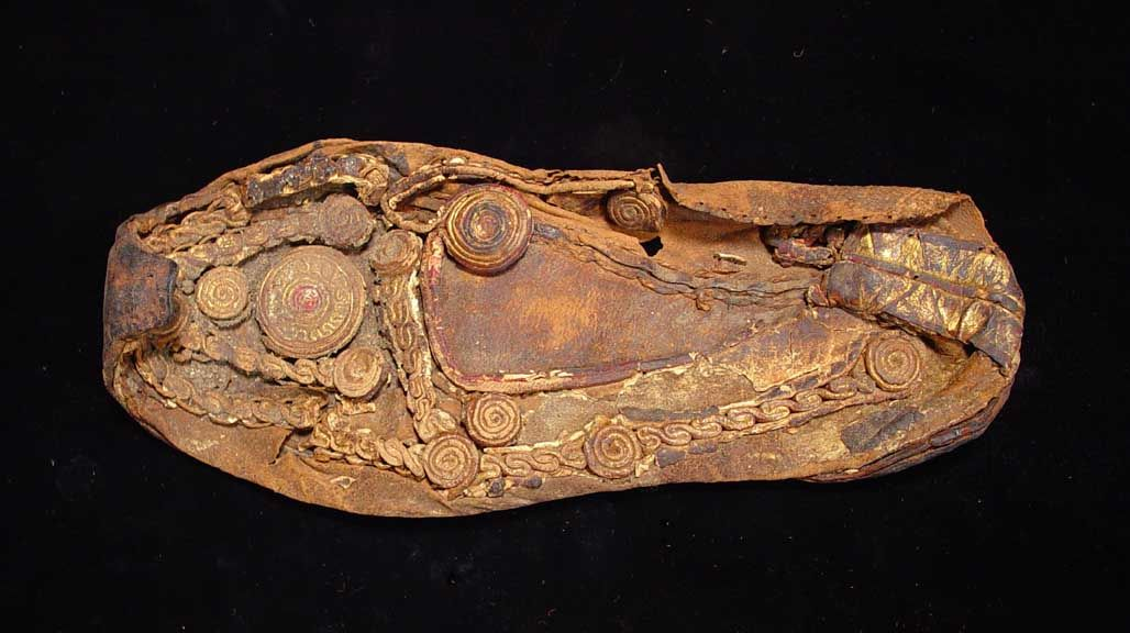 AN IMPORTANT COPTIC LEATHER SHOE. Egypt, C. 4th-6th