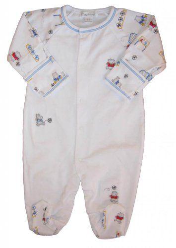 Kissy Kissy Baby Boys Hippo Goalie Footie Newborn Kissy Kissy Baby Boys Clothes Soft White Cotton Kissy Kissy In Baby Boy Romper Boy Outfits Baby Boy Outfits