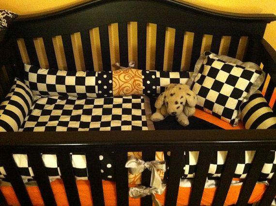 Custom Made Nascar Racing Race Car Crib Set By
