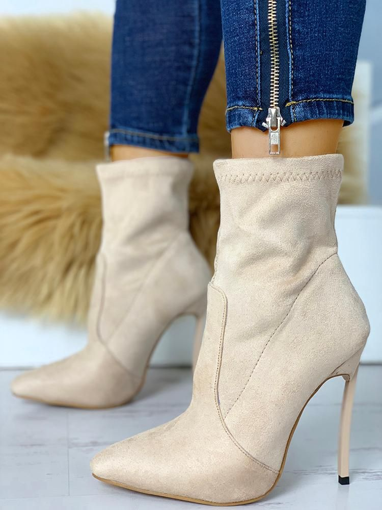 Suede Point Toe schuhe Thin Heeled Stiefel   schuhe Toe & Bags woman 2018 Style ... 369daa