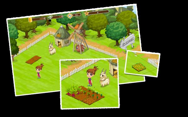 """Farmster"" Game Art by FULDEN BİLGİÇATAÇ, via Behance"